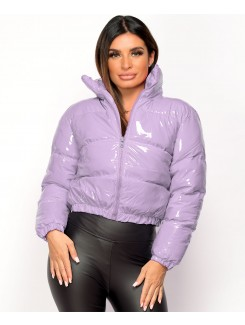 Lilac-PU-Vinyl-High-Shine-Cropped-Puffer-Jacket-2