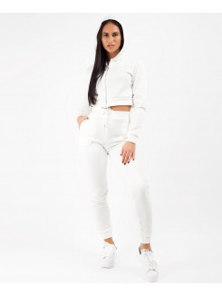 White-Cropped-Hooded-Zipper-Jacket-&-Joggers-Loungewear-Set-1