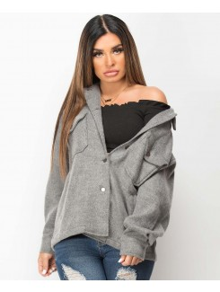 Grey-Oversized-Fit-Plain-Shirt-Shacket-1