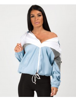 Sky-Blue-Refelective-Panel-Colour-Block-Windbreaker-Jacket-1