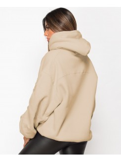 Ruched Sleeve Oversized Fit Hoodie