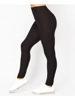 Black-Waffle-Textured-Stretch-Leggings-2