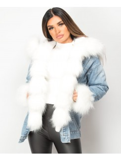 Denim-Blue-Faux-Fur-Front-Trim-Lined-Denim-Jacket-1