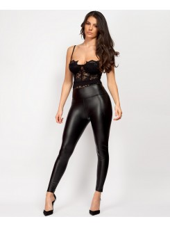 Black-Wet-Look-Matte-Faux-Leather-Look-Leggings-2