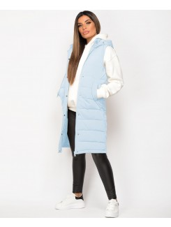 Sky-Blue-Side-Split-Zip-Long-Hooded-Bodywarmer-2