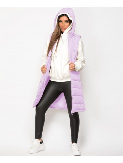 Lilac-Side-Split-Zip-Long-Hooded-Bodywarmer-3