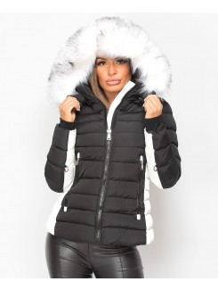 Black-White-Y-912-Quilted-Padded-Contrast-Fur-Hooded-Puffer-Jacket-1