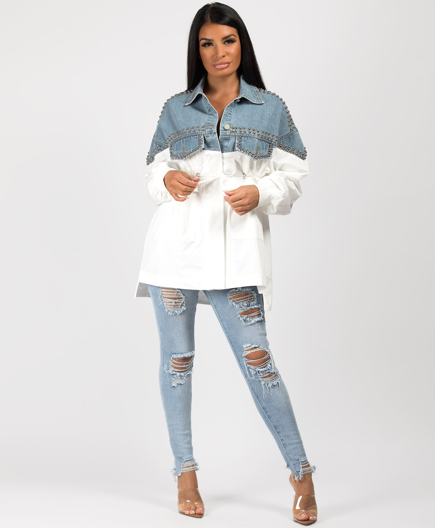 White-Studded-Half-Denim-Jacket-1