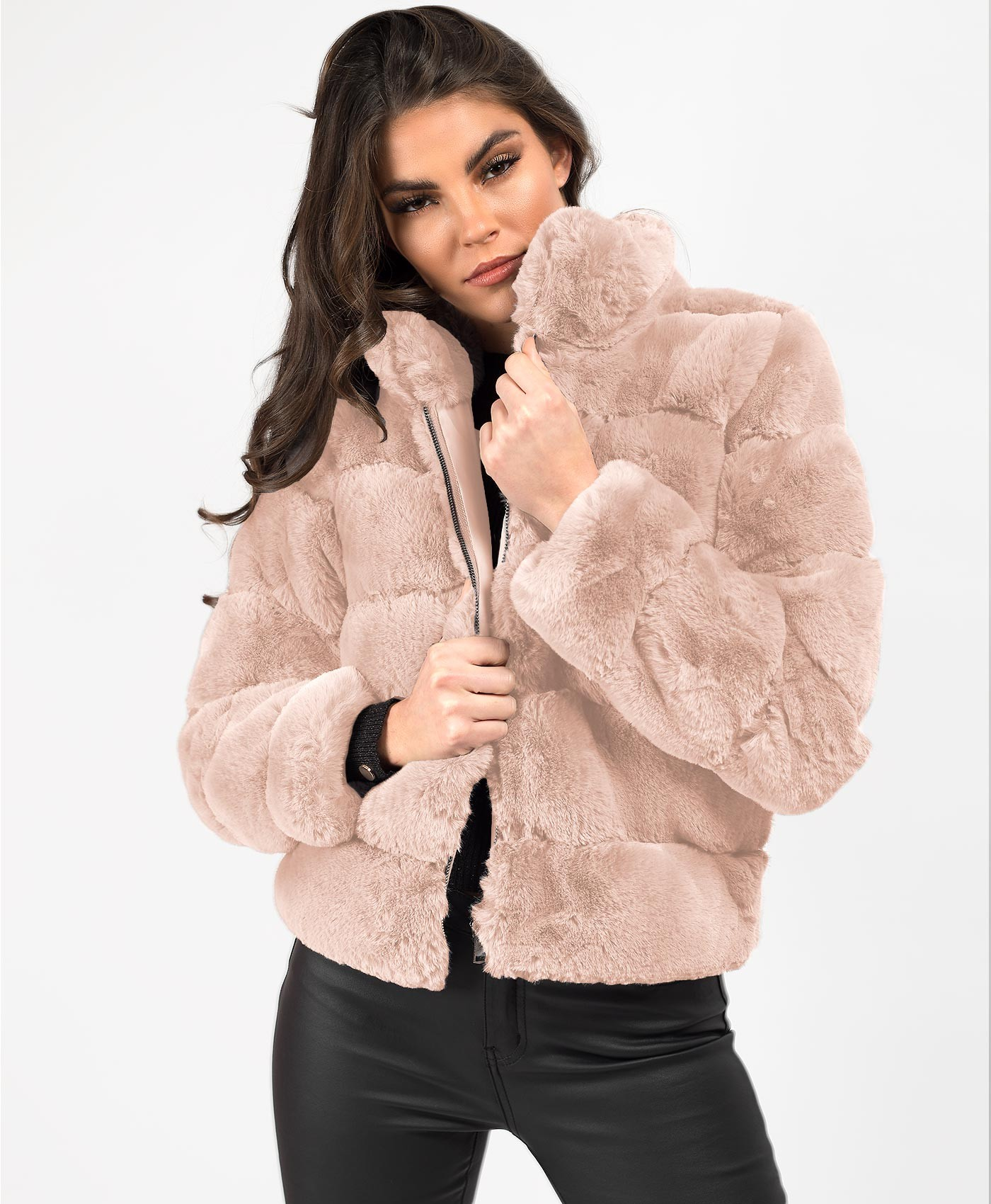 Pink-Faux-Fur-Quilted-Jacket-1