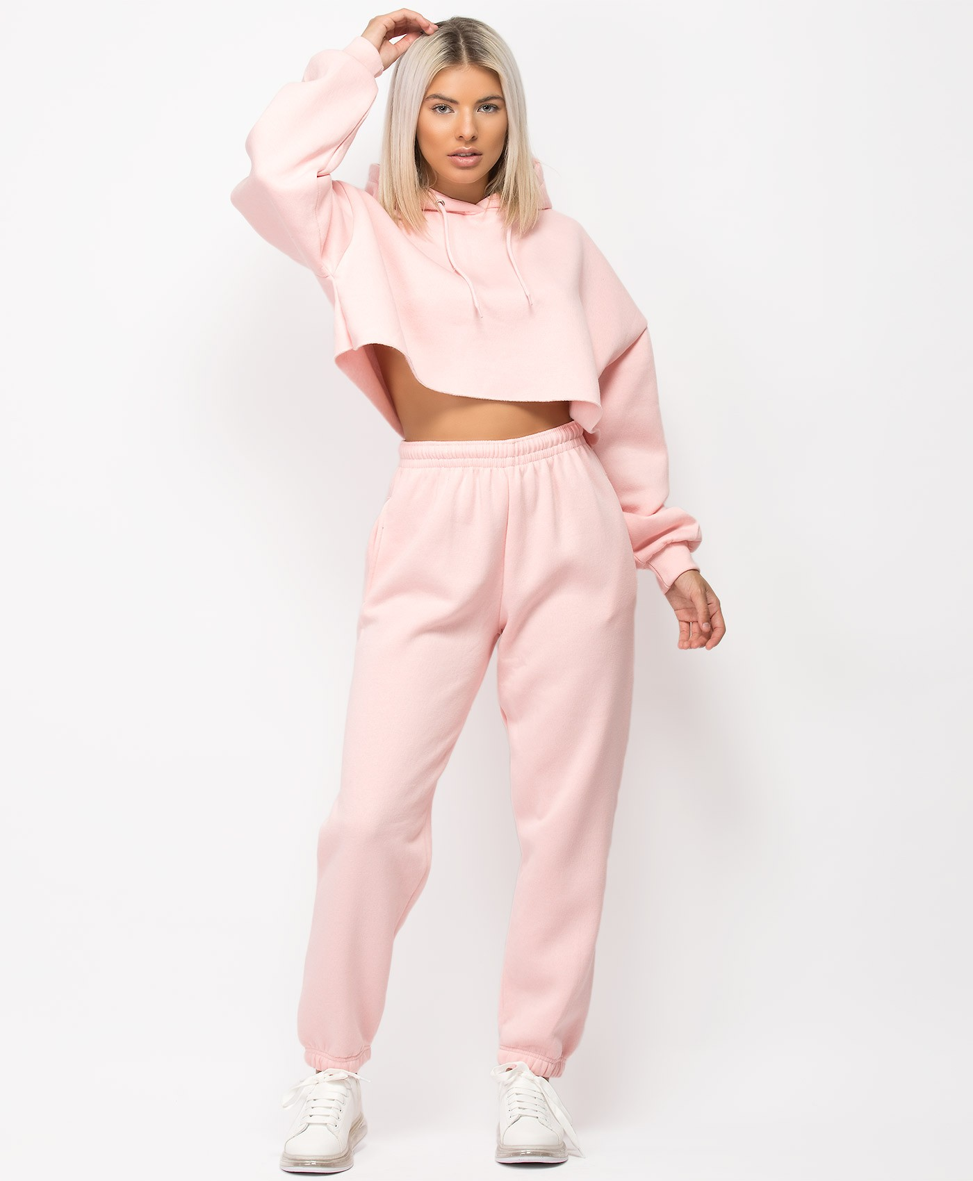 Pink-Oversized-Cropped-Hoody-&-Joggers-Loungewear-Set-1