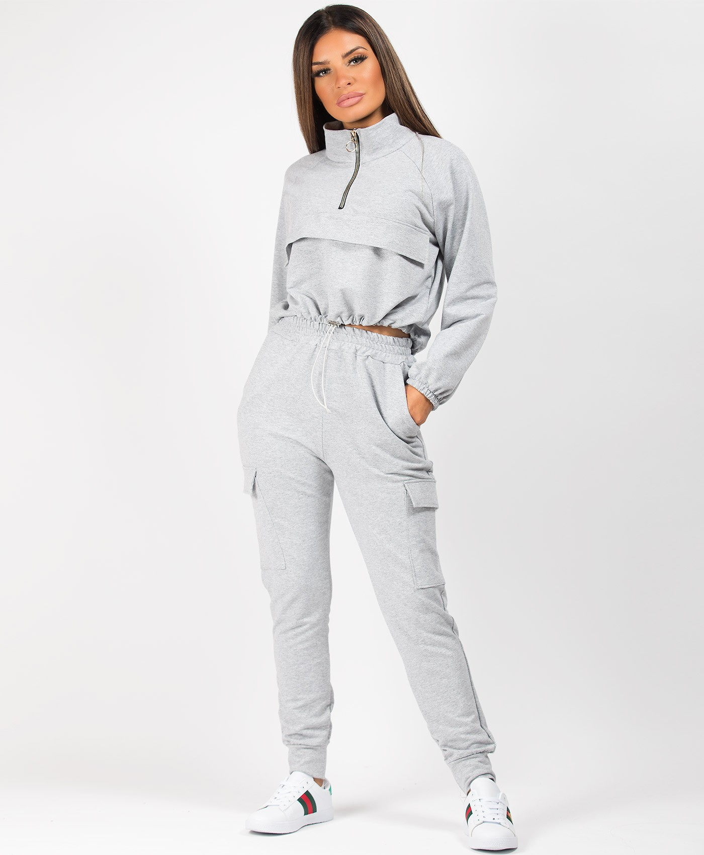 Grey-Utility-Pocket-Drawstring-Co-Ord-Loungewear-Tracksuit-Set-1