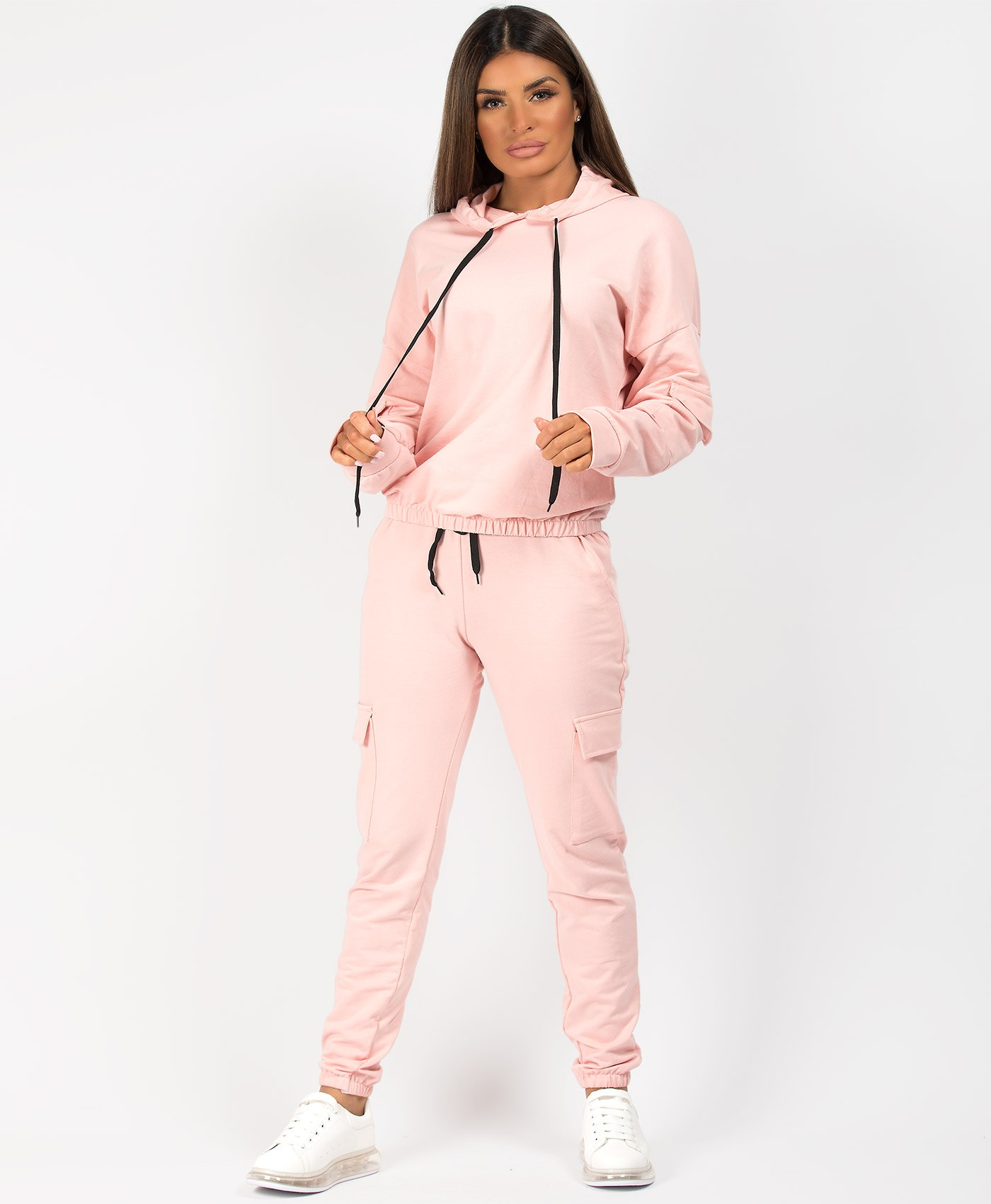 Pink-Utility-Pocket-Hooded-Tracksuit-Loungwear-Set-1