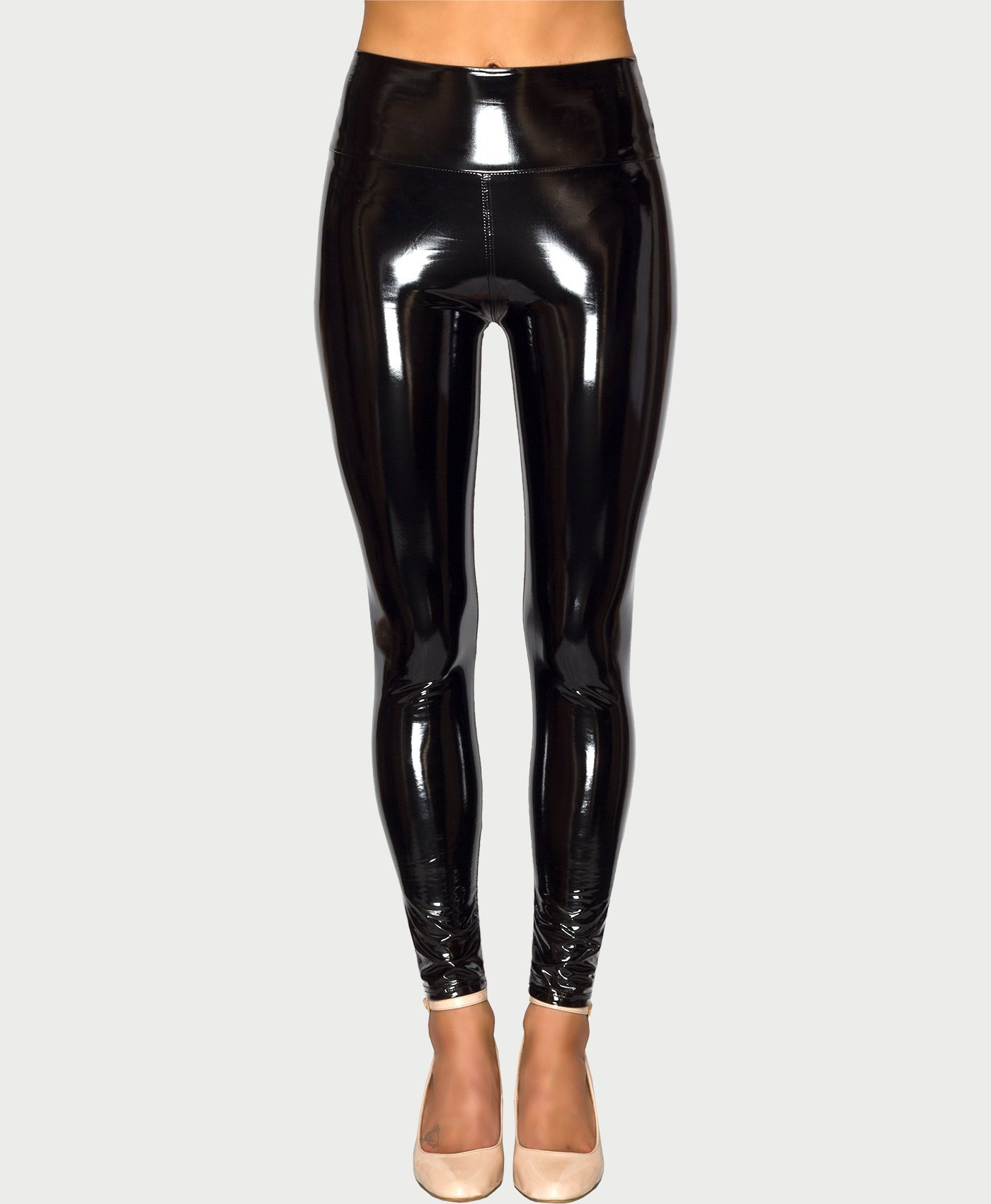 Wet Look High Shine Vinyl Leggings