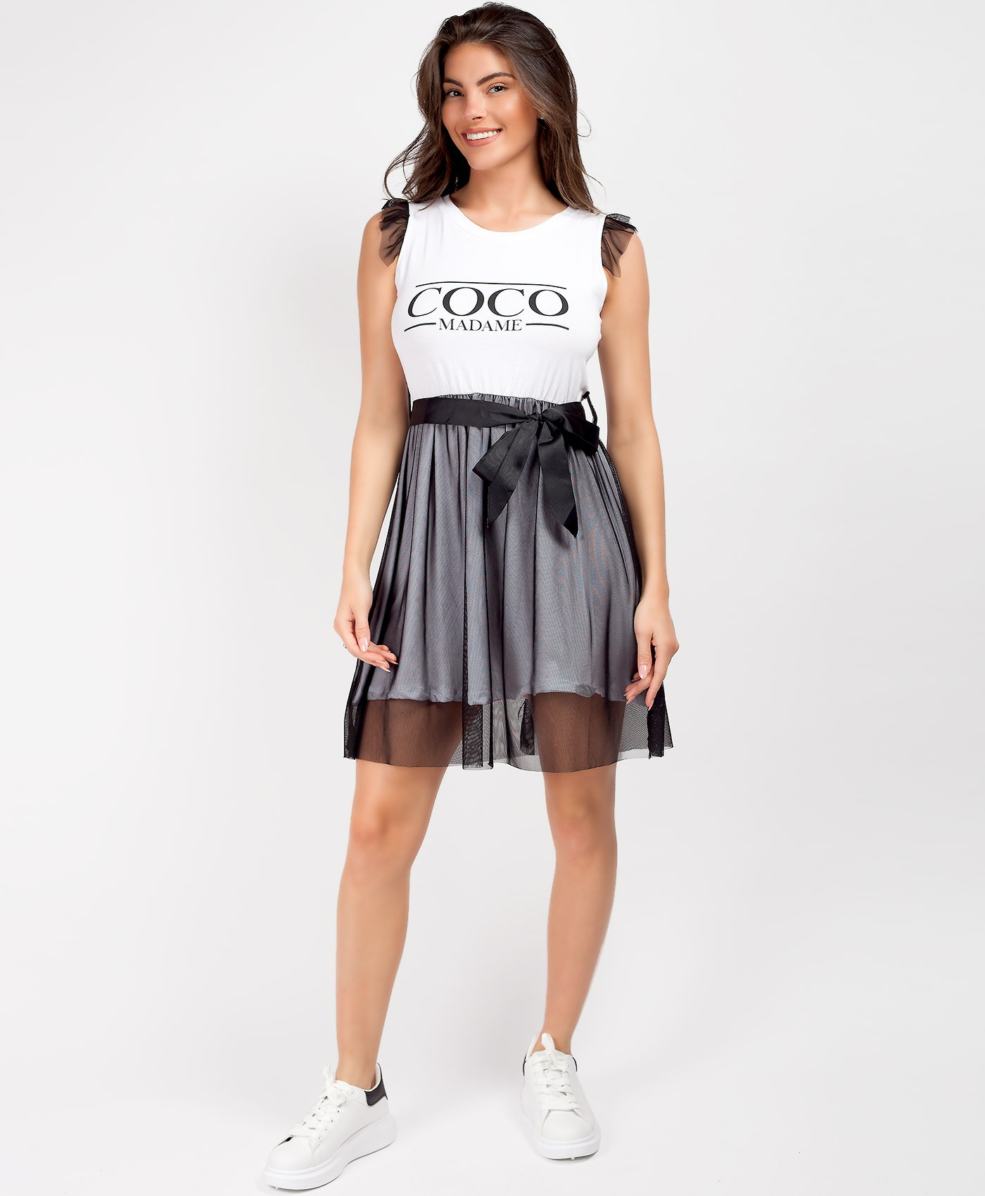 Black-Coco-Madame-Tulle-Skirt-T-Shirt-Dress-1