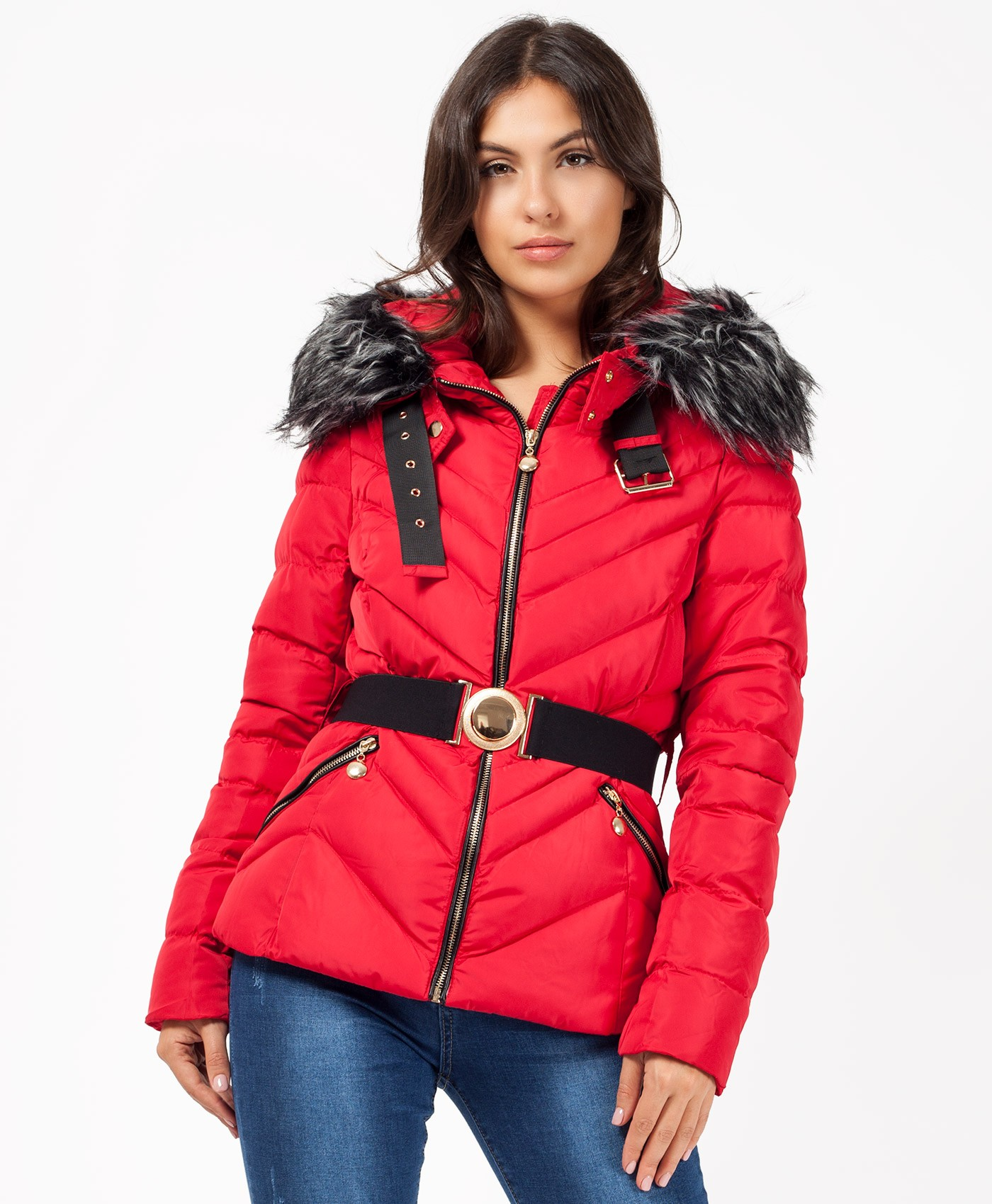 Red-Quilted-Chevron-Belted-Bubble-Jacket-1