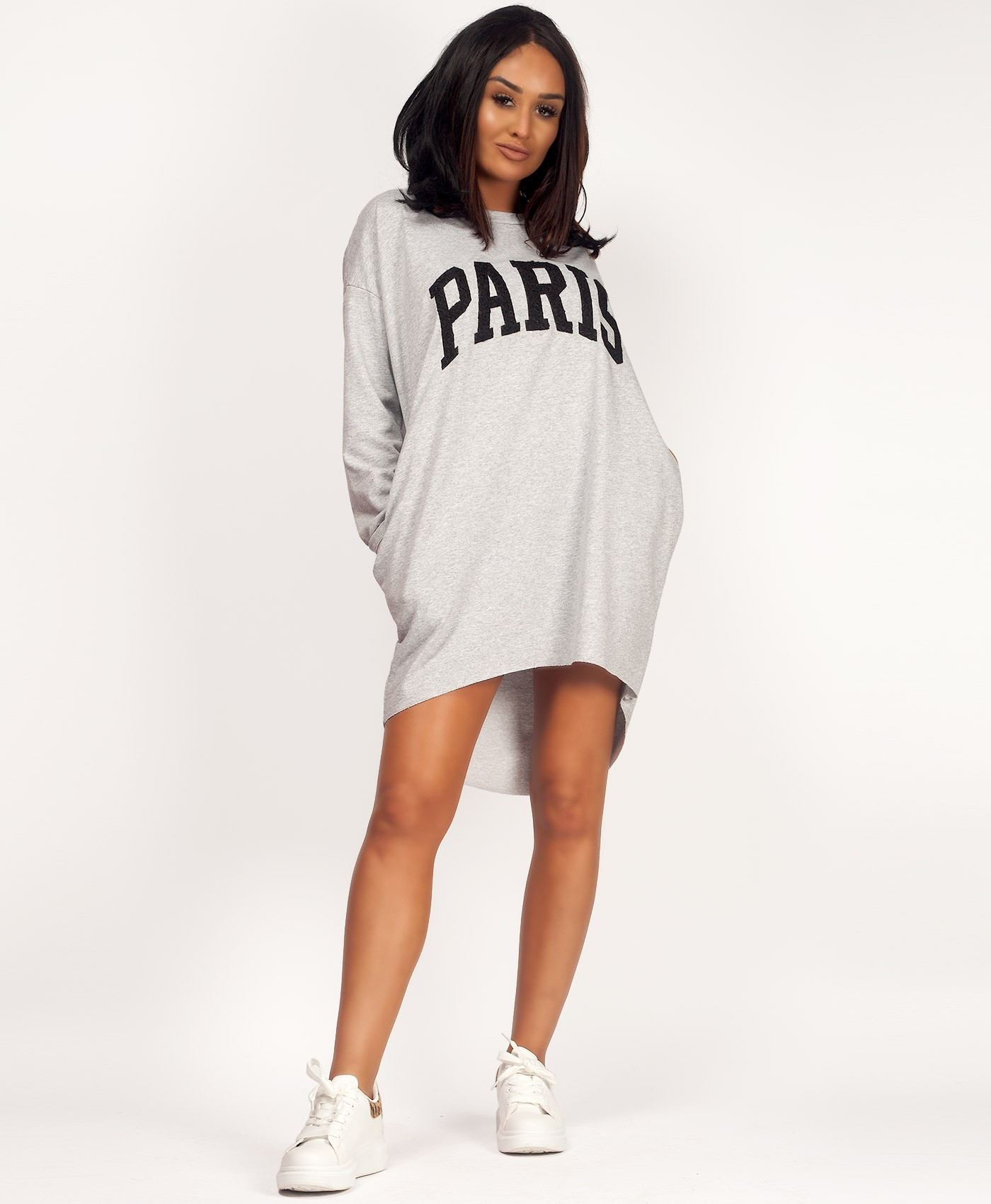 Grey-Paris-Applique-Oversize-Batwing-Pocket-Top-Dress-1