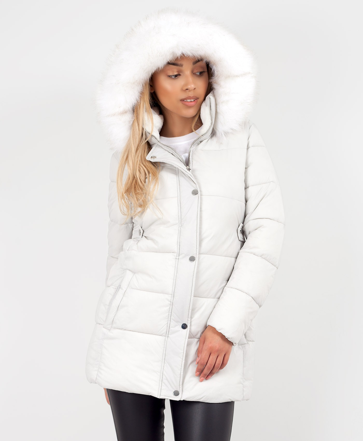 White-Chunky-Faux-Fur-Hooded-Padded-Quilted-Jacket-Coat-1
