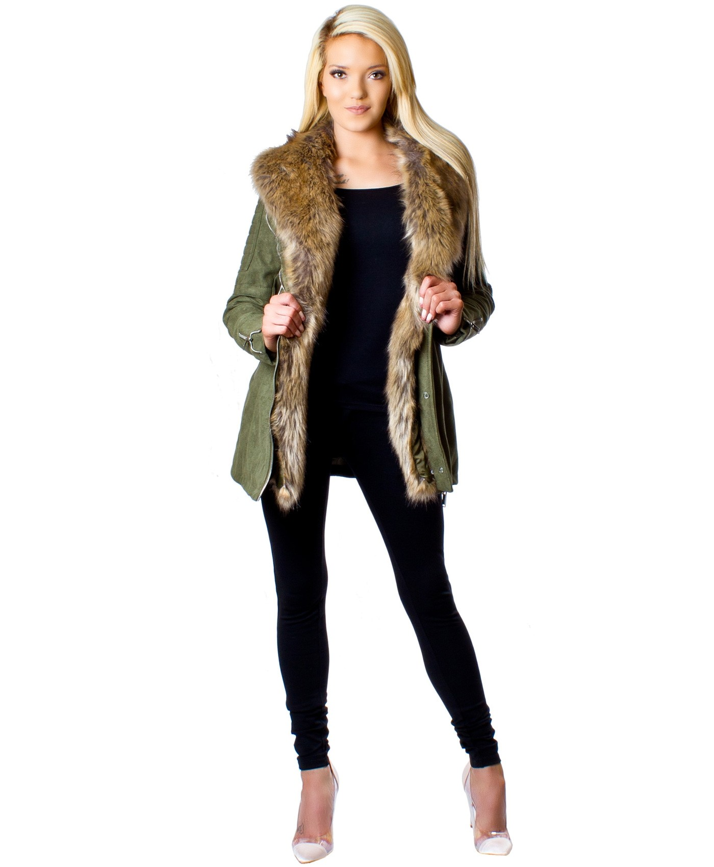 Khaki-Long-Suede-Fur-Lined-Jacket-1m