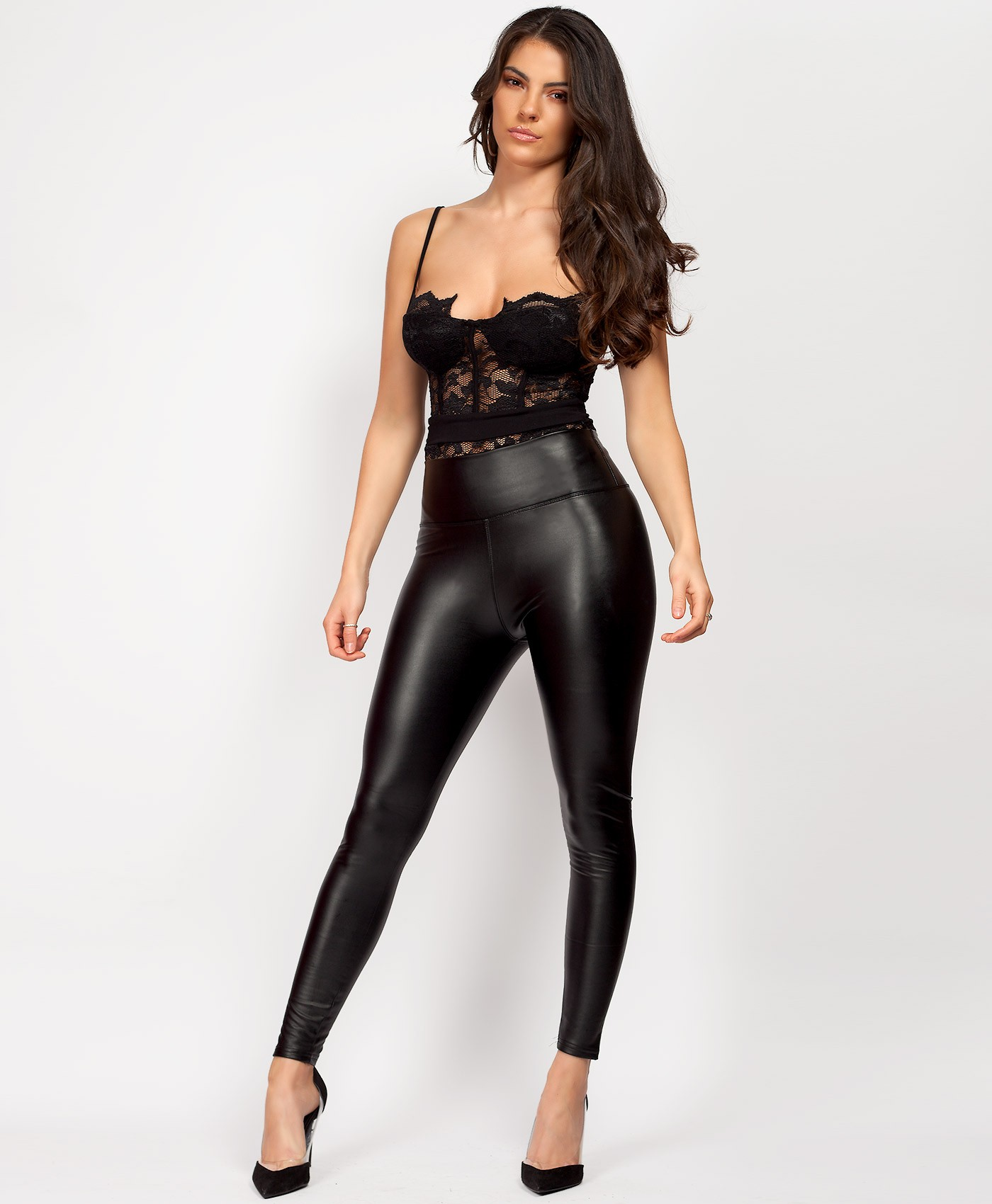 Wet Look Matte Faux Leather PU PVC Leggings