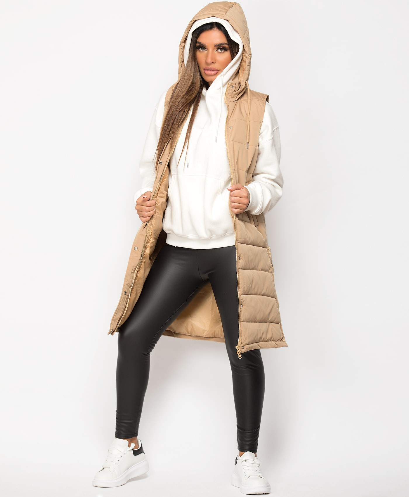 Beige-Side-Split-Zip-Long-Hooded-Bodywarmer-3