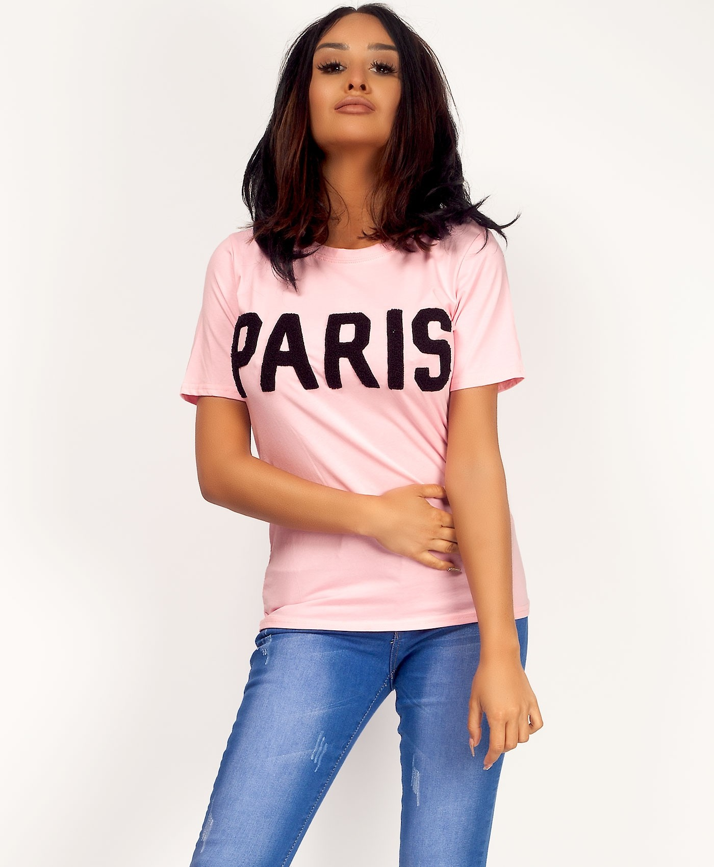 Pink-Black-Paris-Applique-T-Shirt-3