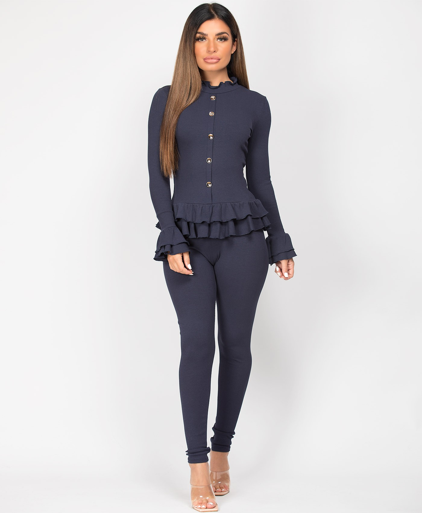 Navy-Frill-Gold-Button-Ribbed-Loungewear-Set-3