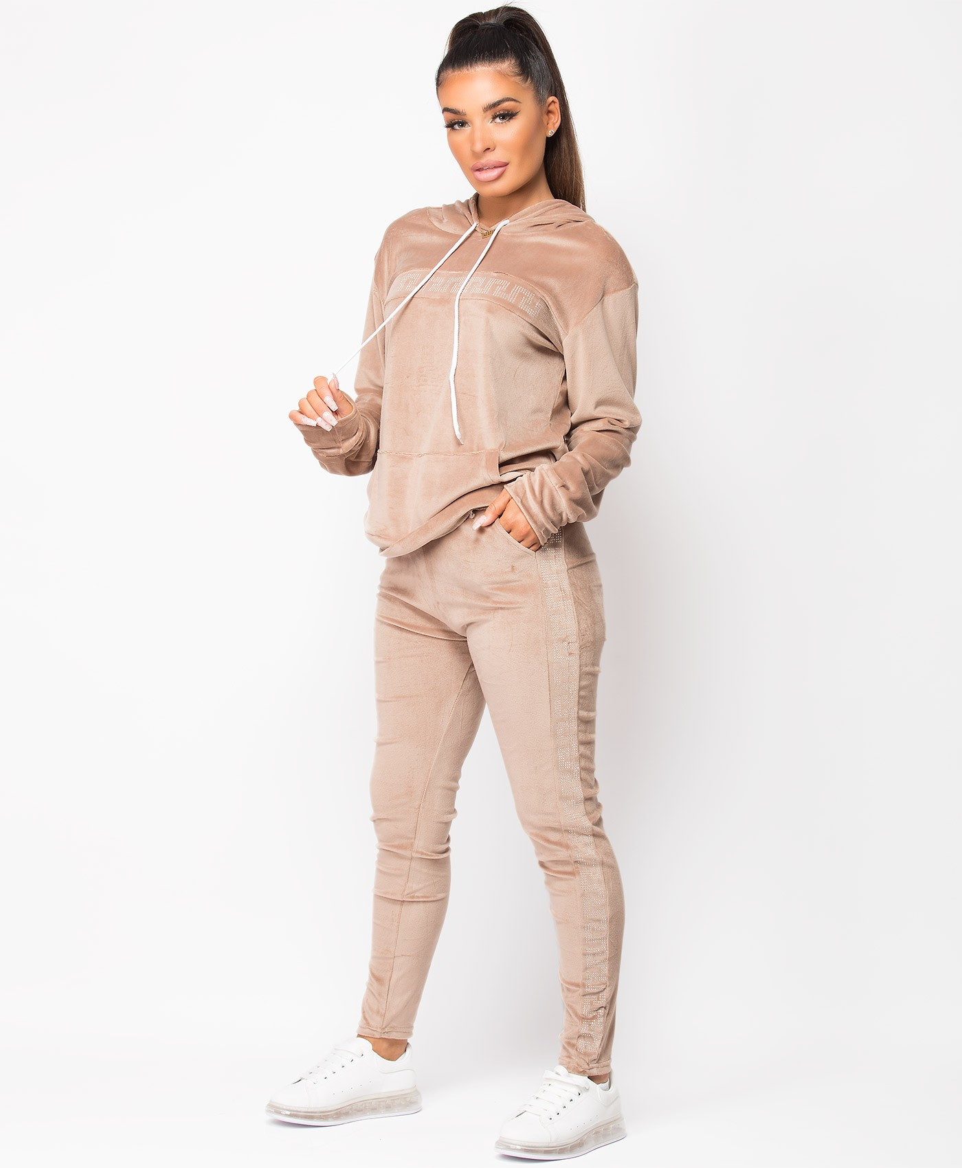 Beige-Velour-Velvet-Diamante-Greek-Key-Tracksuit-Loungewear-Set-2