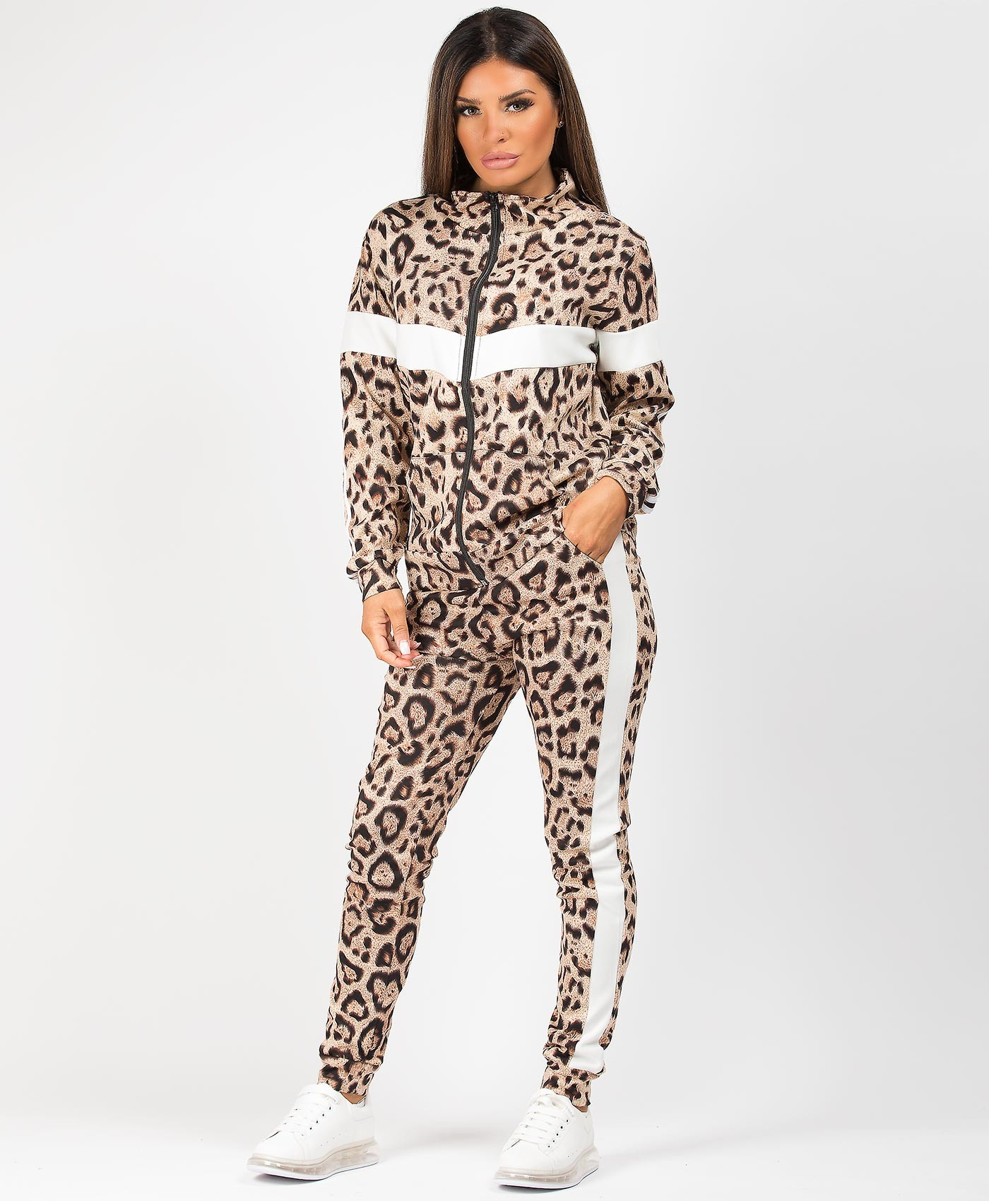 White-Leopard-Print-Panel-Side-Stripe-Tracksuit-Loungewear-Set-1