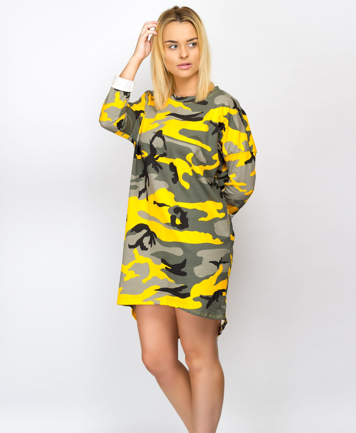 Yellow-Multi-Colour-Camouflage-Oversise-Top-1