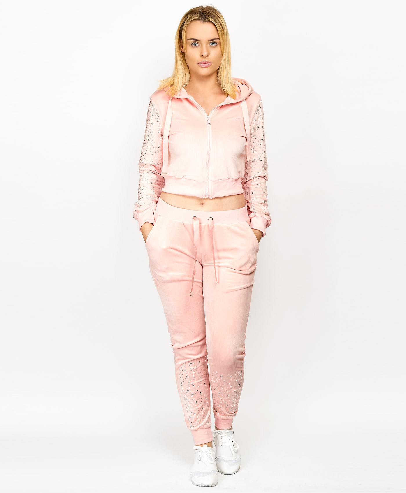 Pink-Velour-Diamante-Detail-Loungwear-Set-1