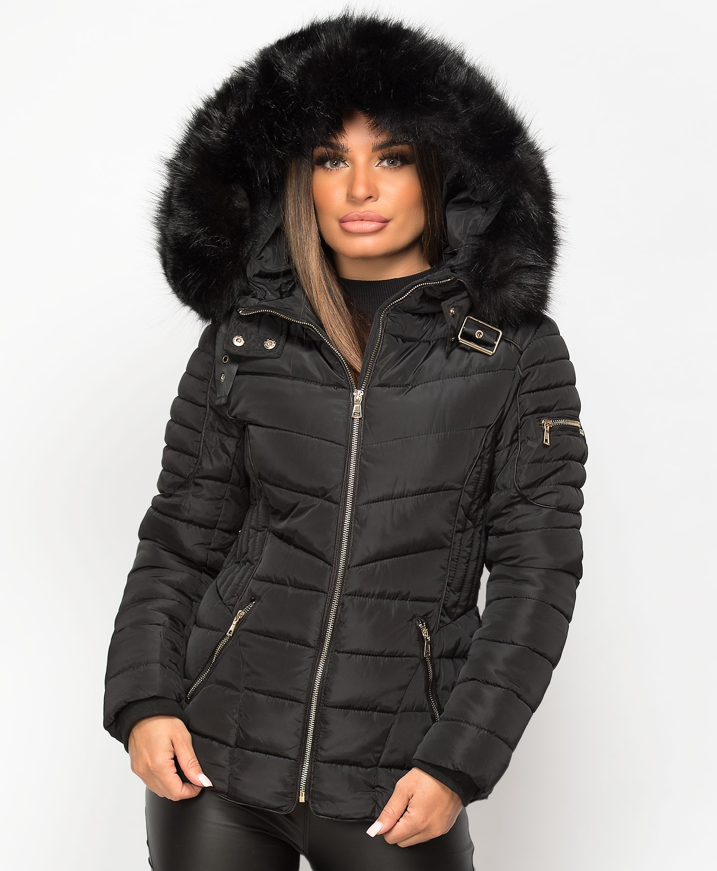 Black-Quilted-Padded-Piping-Detail-Fur-Hooded-Jacket-1a.jpg
