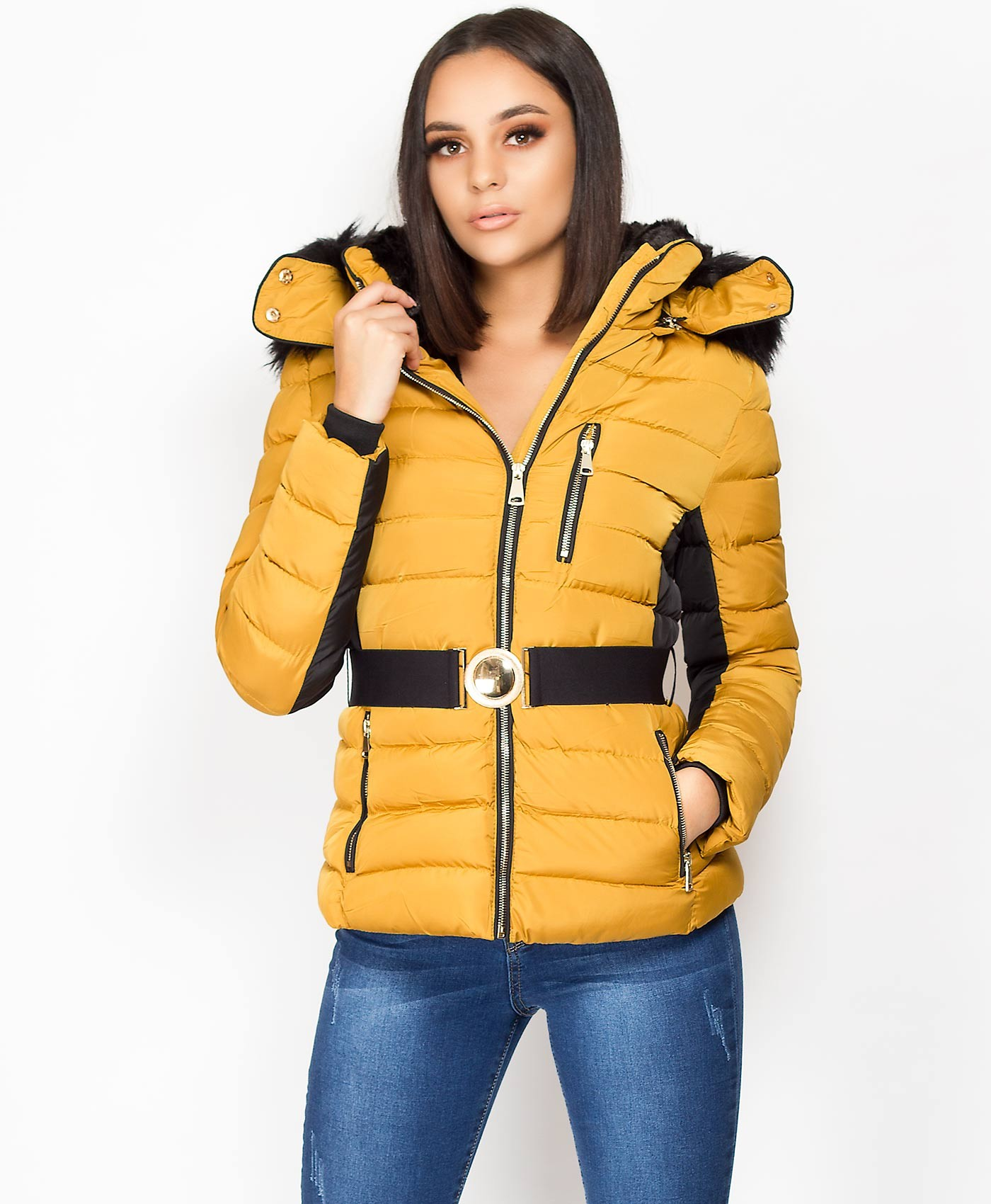 Mustard-Padded-Quilted-Two-Tone-Zip-Jacket-2