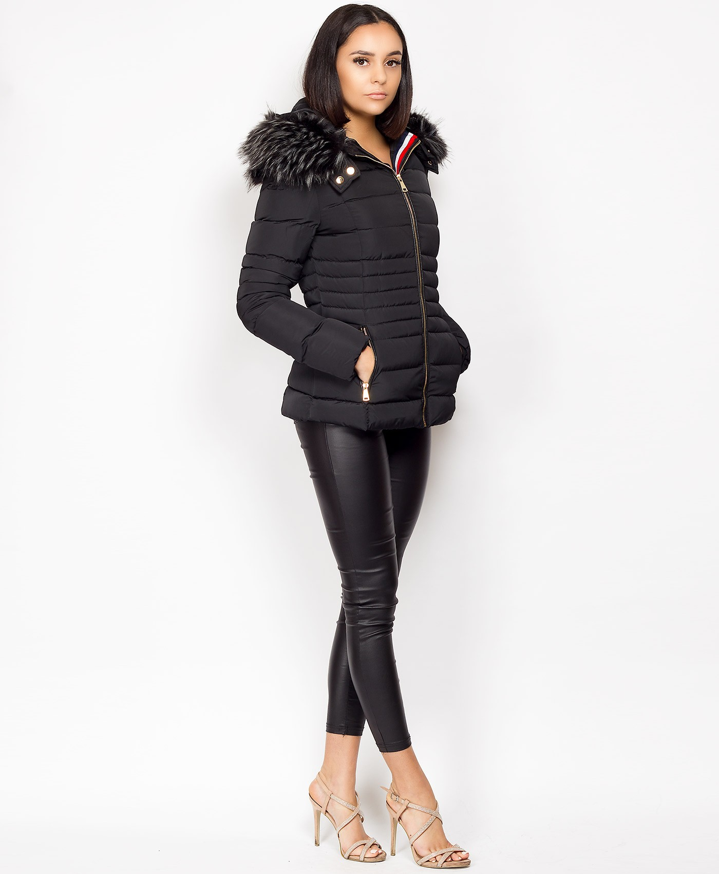 Black-Faux-Fur-Hooded-Mnclr-Stripe-Padded-Puffer-Jacket-3