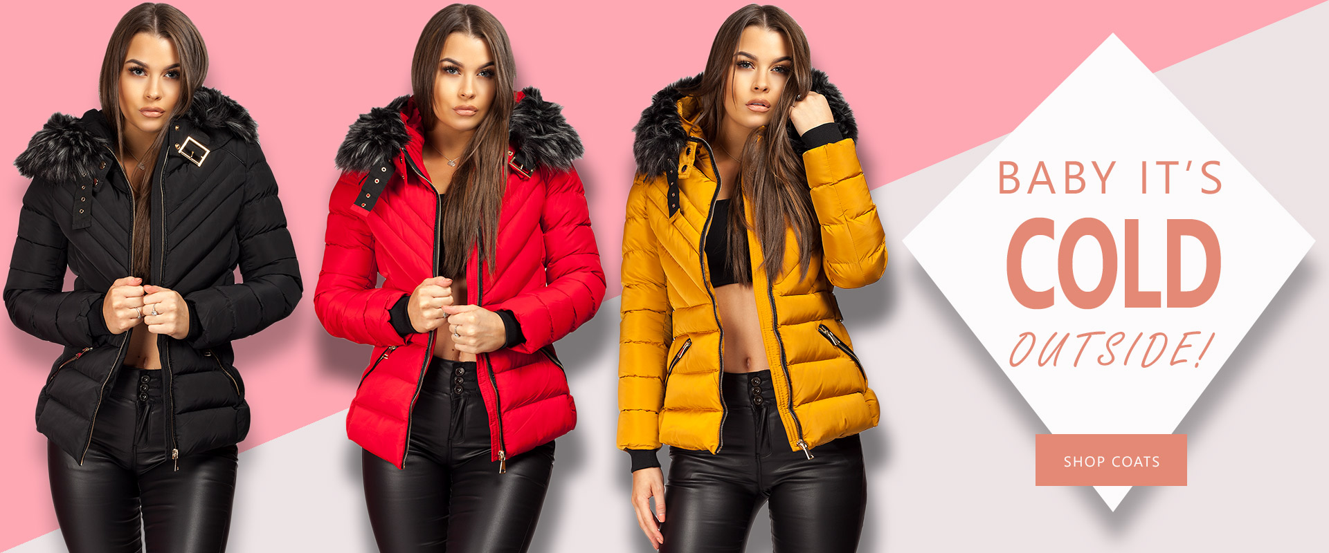 Shop Chunky Fur Hooded Puffer Jackets | Lexifashion